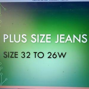 Denim - Plus size Jeans size 32, 16-26W